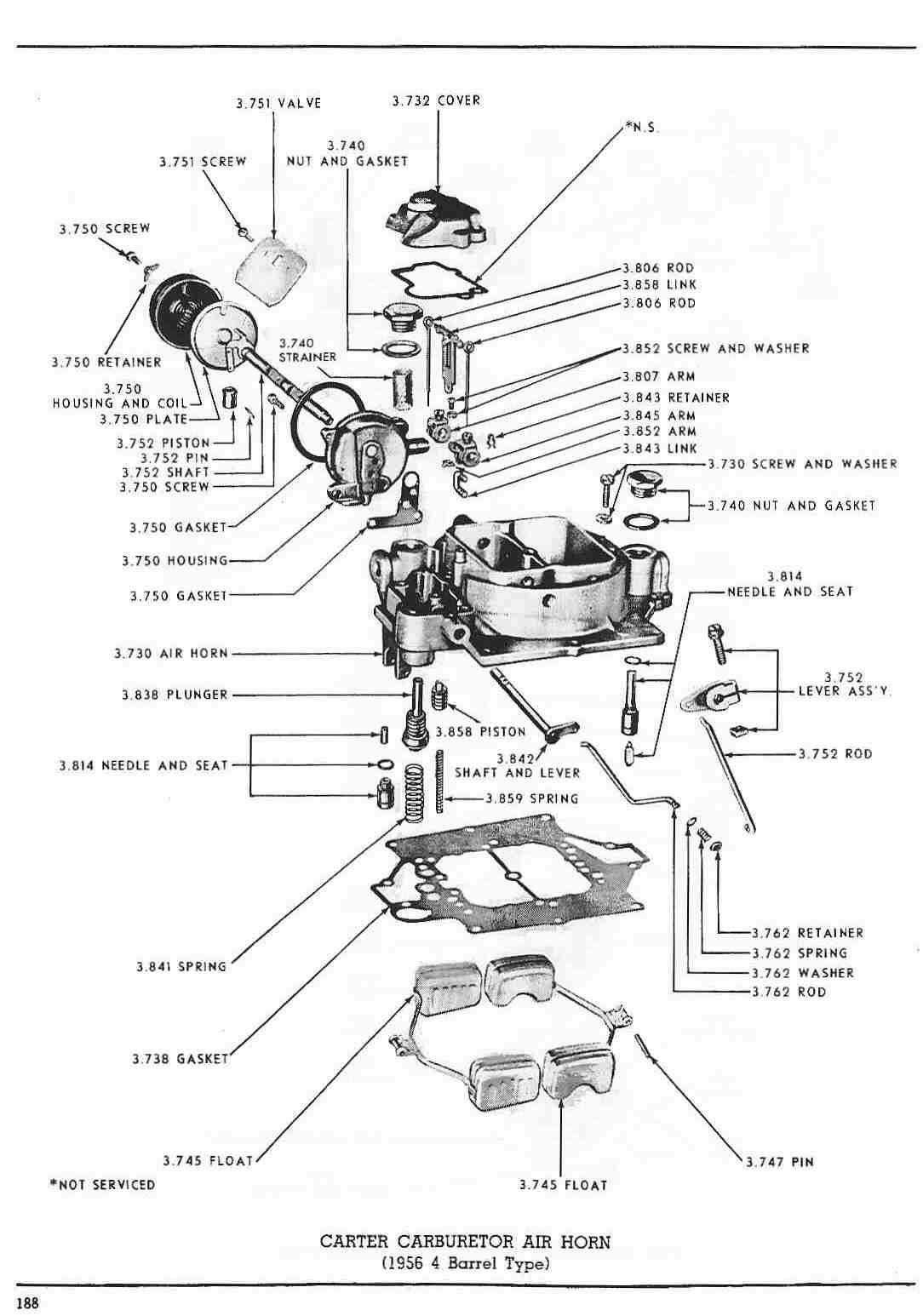 carter ys carburetor diagram